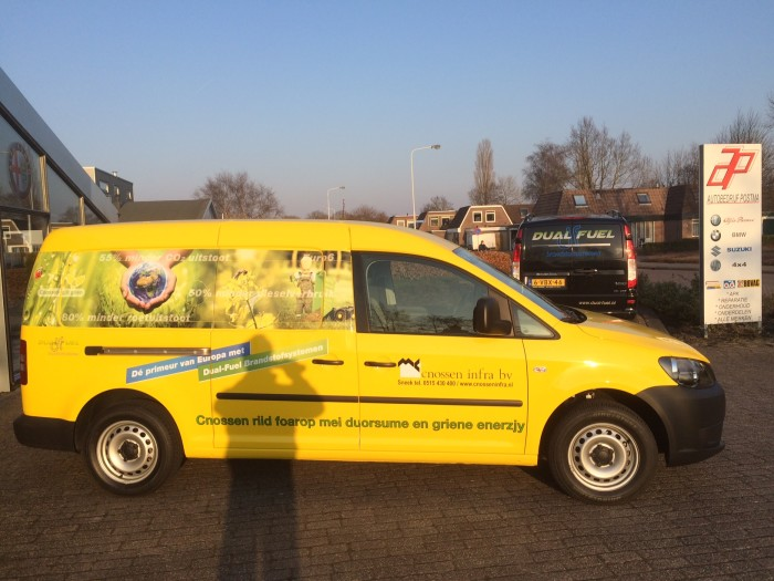 Cnossen Infra dual fuel VW Caddy Dual Fuel brandstofsystemen besparing brandstofprijzen goedkoop tanken energie vergelijken