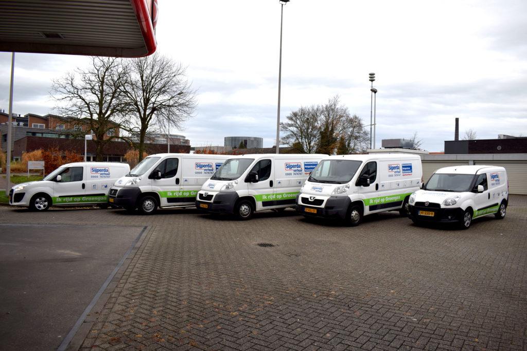 Foto bedrijfauto's Sijperda Dual-Fuel Brandstofsystemen